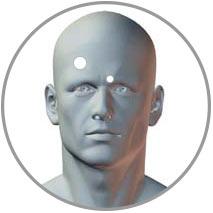 Akupressur bei Kopfschmerzen Gb14 und Bl2 / UB2
